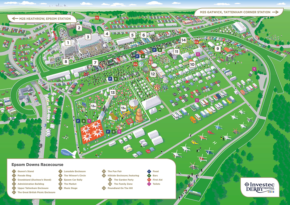 Epsom Derby Map