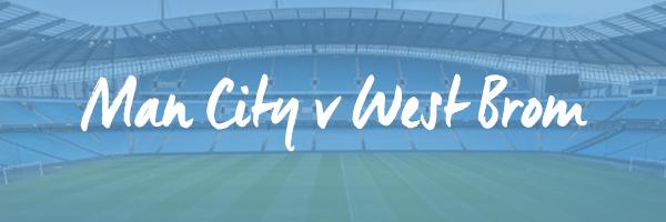 Manchester City v West Brom Hospitality