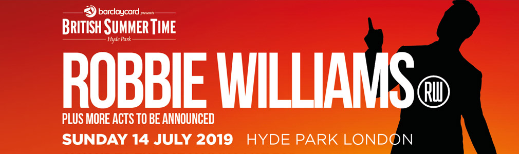 Robbie Williams Hyde Park VIP Tickets