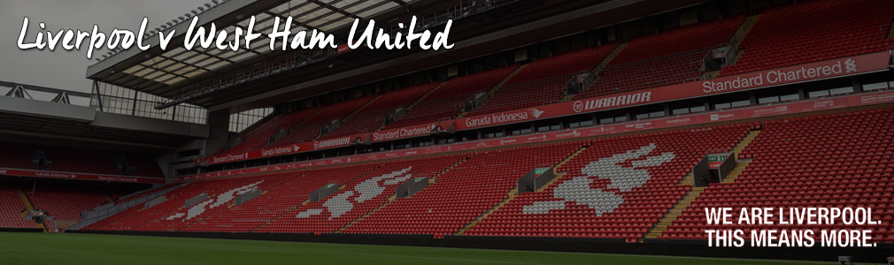 liverpool v west ham VIP tickets
