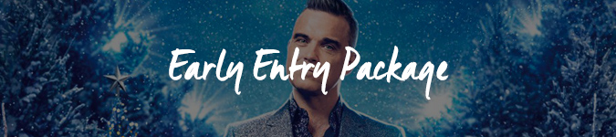Robbie Williams Christmas Party vip tickets