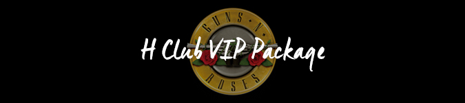 Guns And Roses VIP tickets