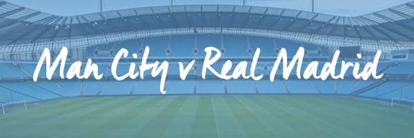 Man City v Real Madrid hospitality packages